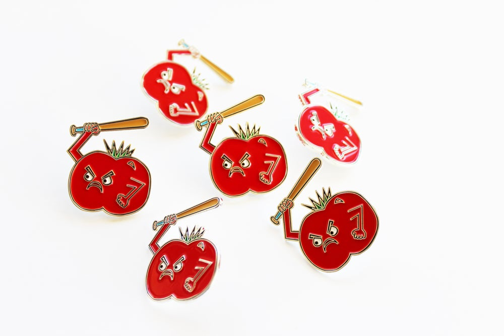 Image of Food Fight Enamel Pin: Tomato