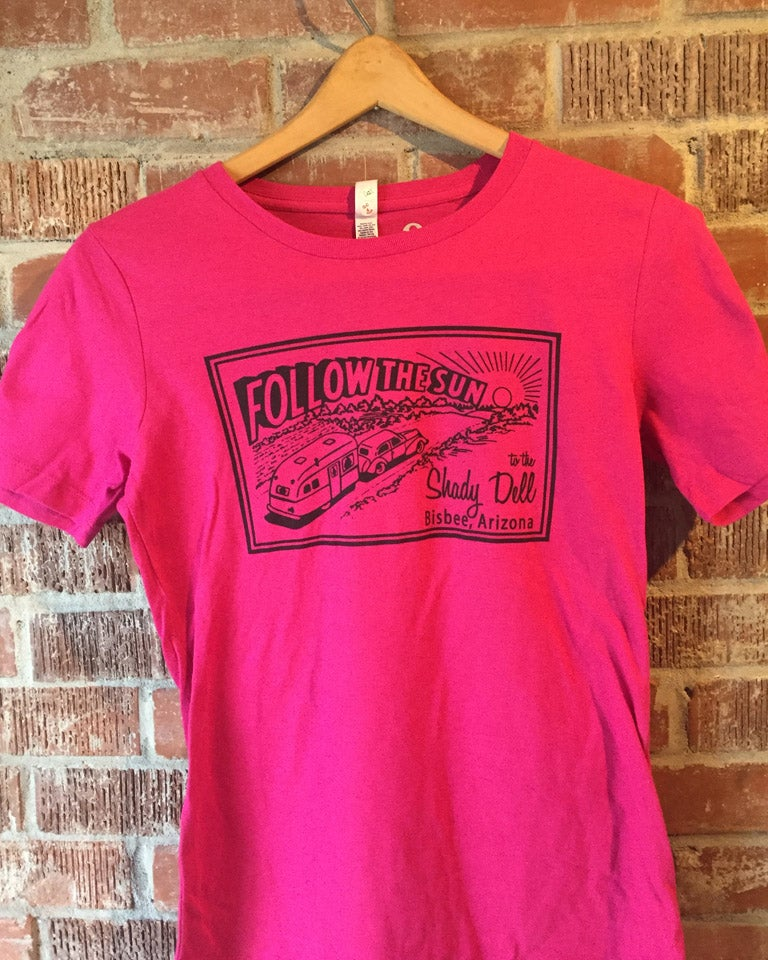 Image of Women's Fitted Tee in Dark Pink