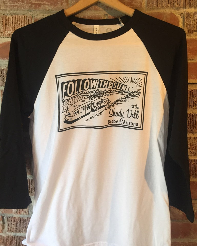 Image of Raglan Baseball Tee with Black Sleeves