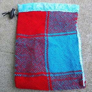Image of Large check, Scarlet/Blue, gaming bag