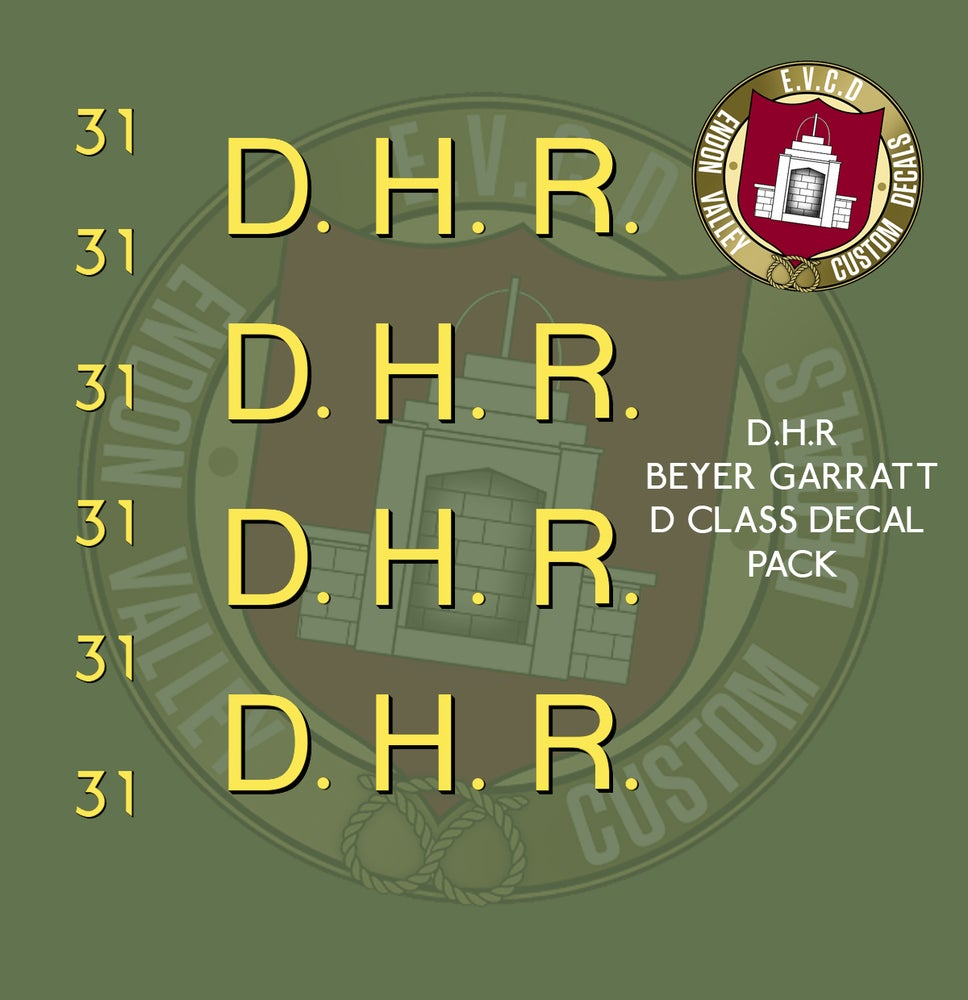 Image of D.H.R. BEYER GARRATT D Class loco decals