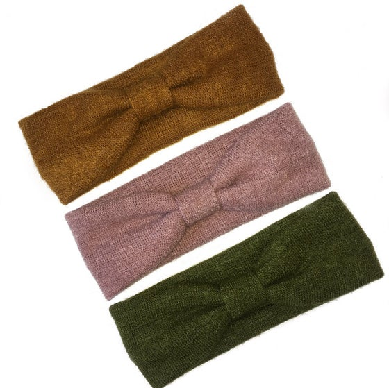 Image of Knitted fabric turban headbands