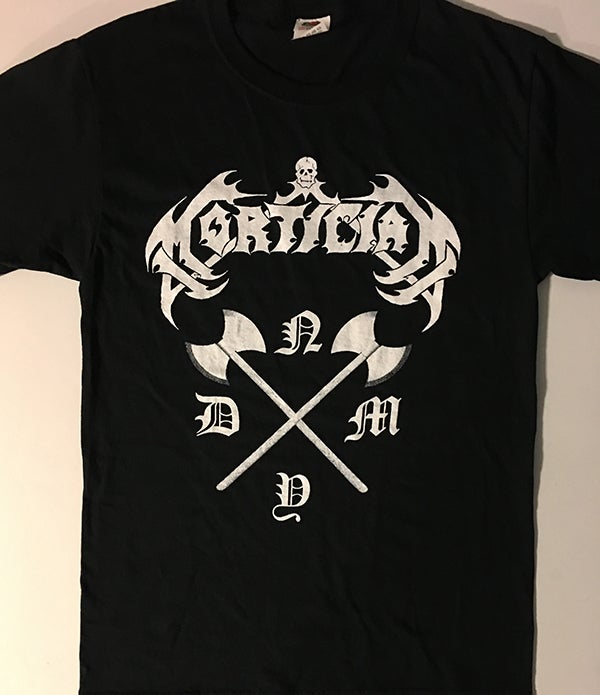 "Image of Mortician "" NYDM "" T shirt"