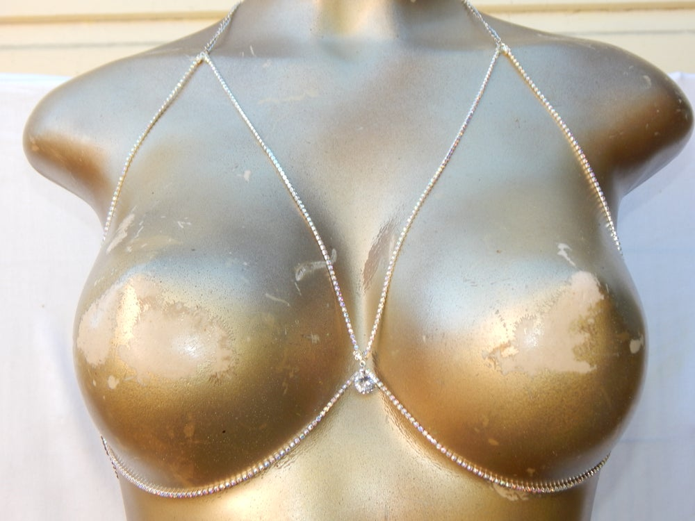 Image of CRYSTAL  BODY CHAIN