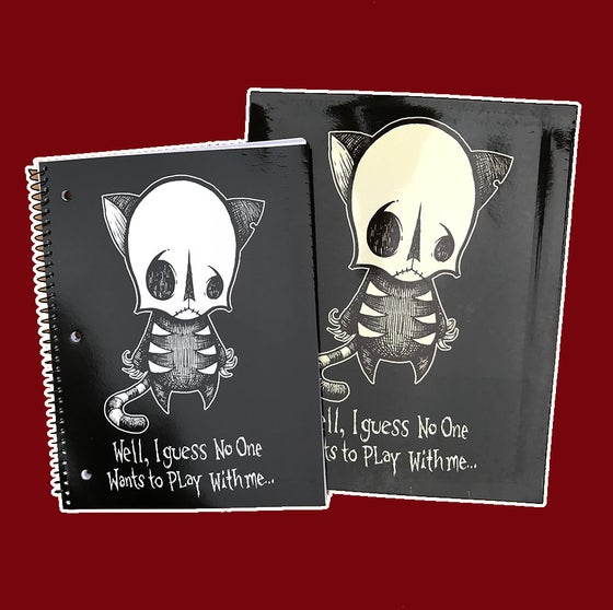 Image of SKELLY CAT NOTEBOOK SET