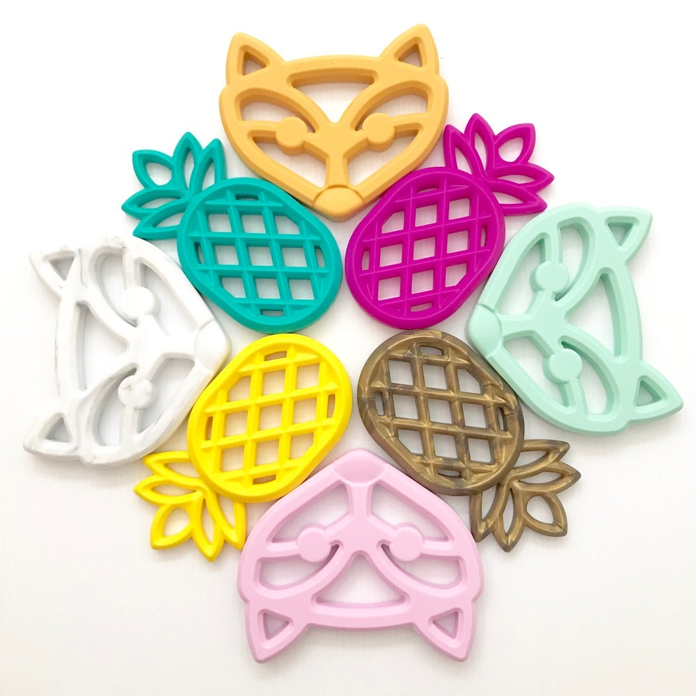 Image of Fox and Pineapple Teethers