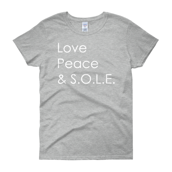Image of Love, Peace & S.O.L.E. Ladies Tee