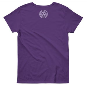 Image of Love, Peace & S.O.L.E. Ladies Tee Purple