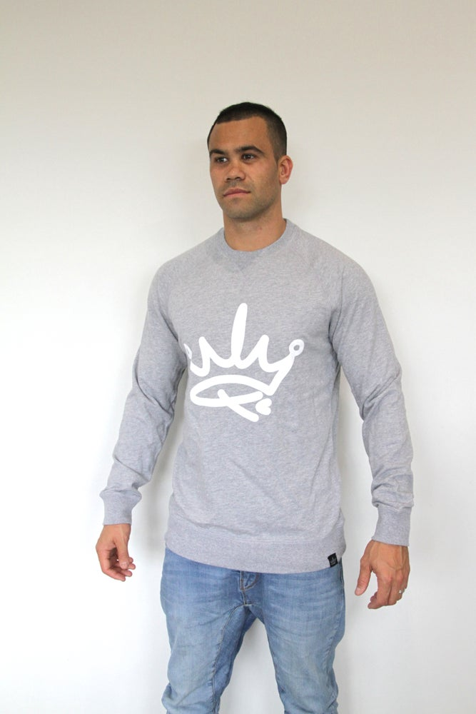 Image of ADULTS CREW SWEATER - GREY