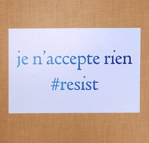 Image of #resist