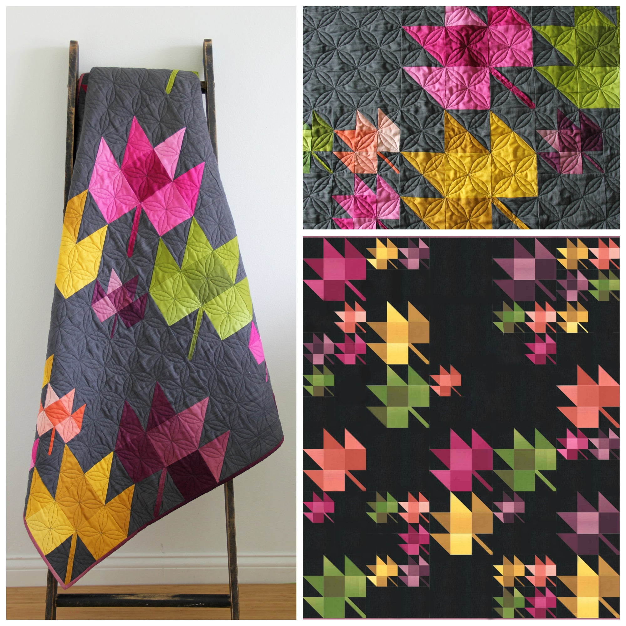V And Co  U2014 Fall Breeze Ombre Quilt Pdf Pattern