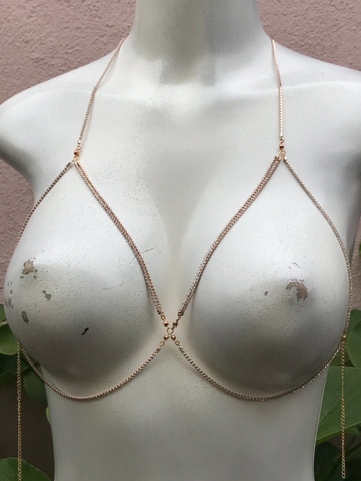 Image of LAYERED CRYSTAL BRALETTE BODY CHAIN