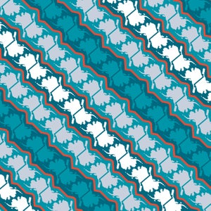 Image of Alaska Pattern Leggings - Glacier