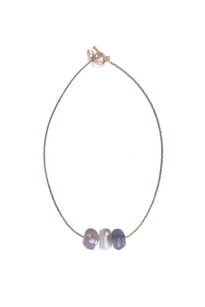 Image of Simple African Spacer Stone Necklace