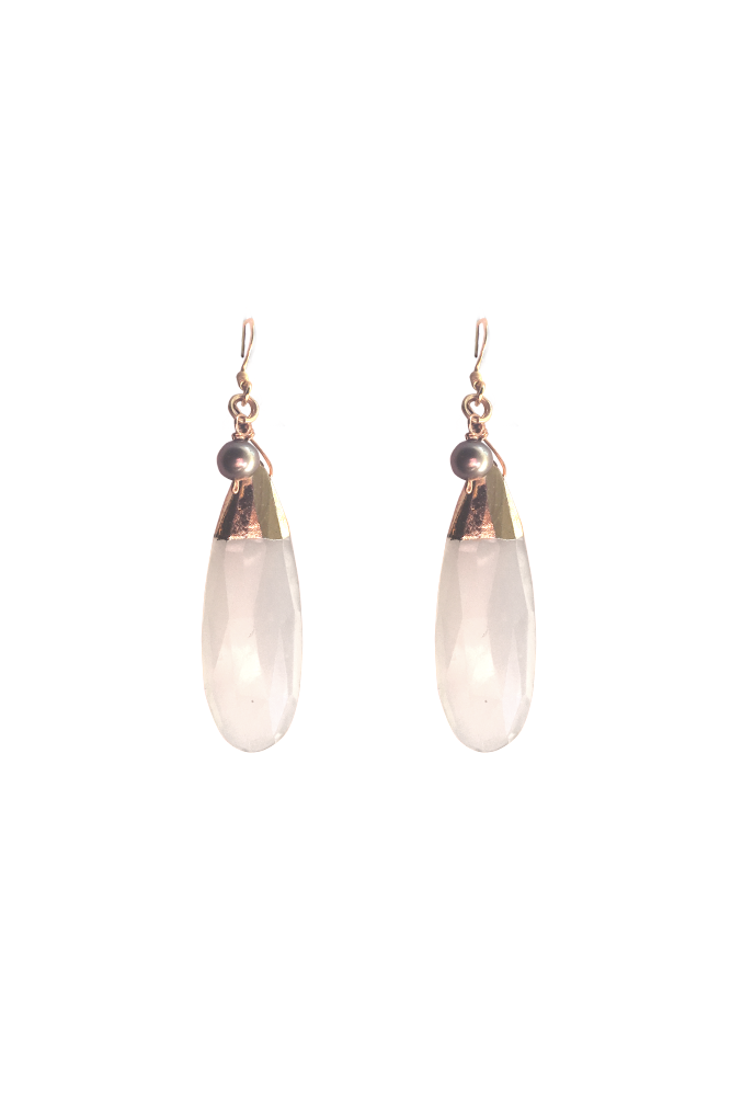 Image of Chalcedony Drop Earrings