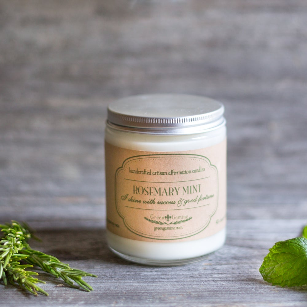 Image of Rosemary Mint Success Artisan Soy Candle