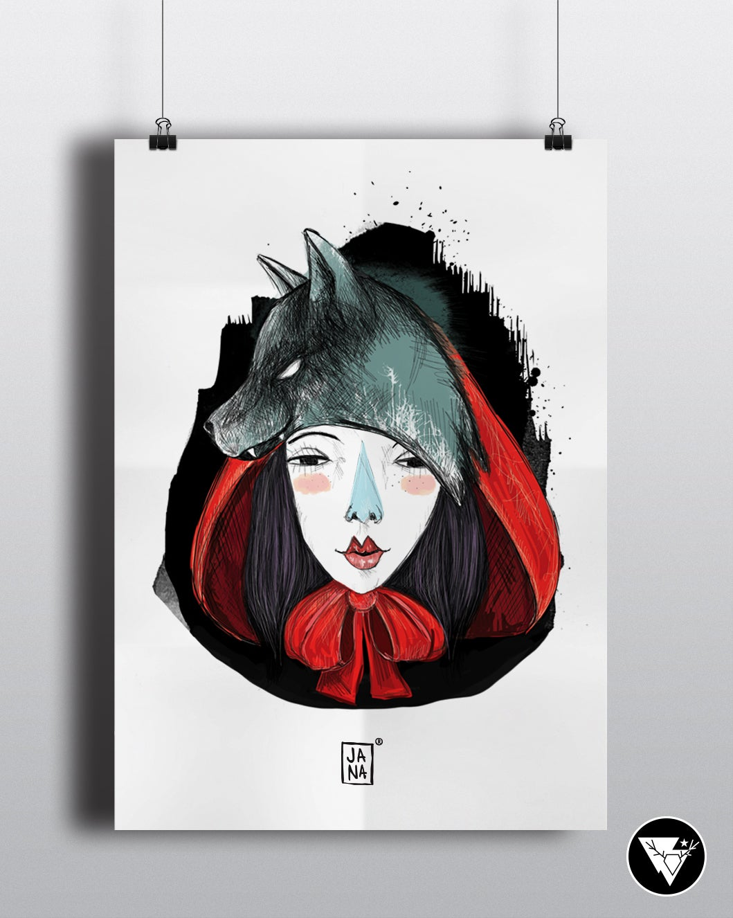 Image of Red riding hood/art print