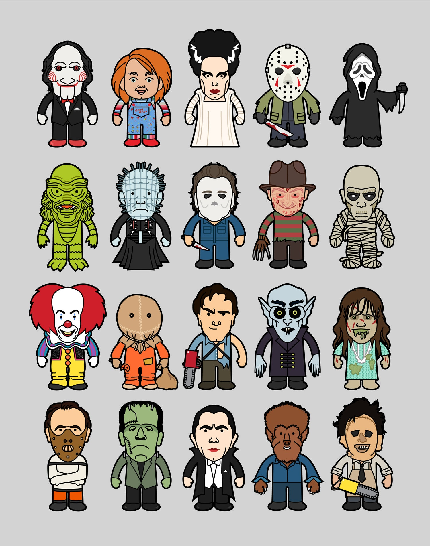 Image of Horror Icons Art Print
