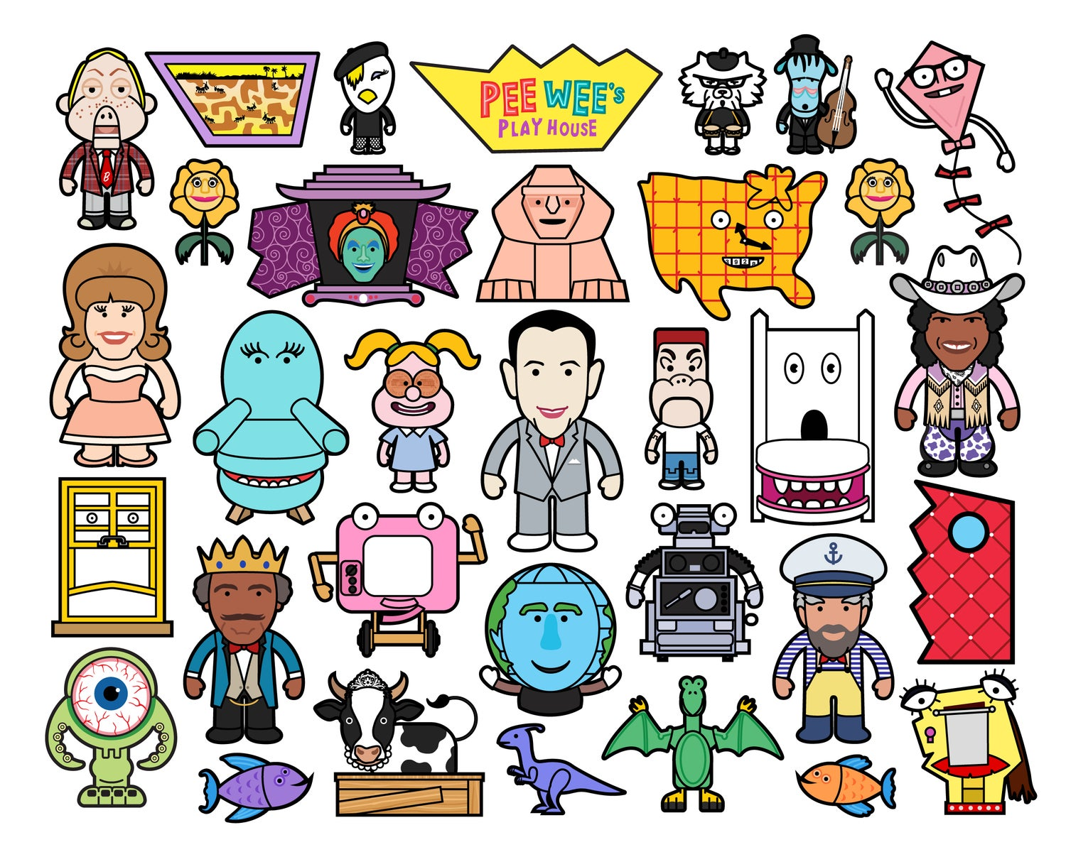 Image of PeeWee's Playhouse Art Print