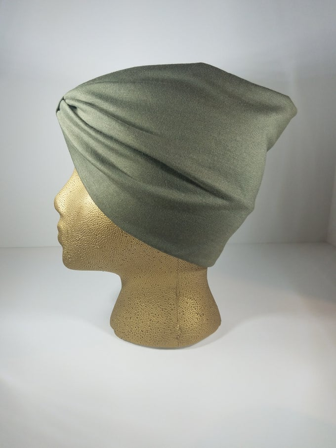 Image of Olive Green Hair Wrap
