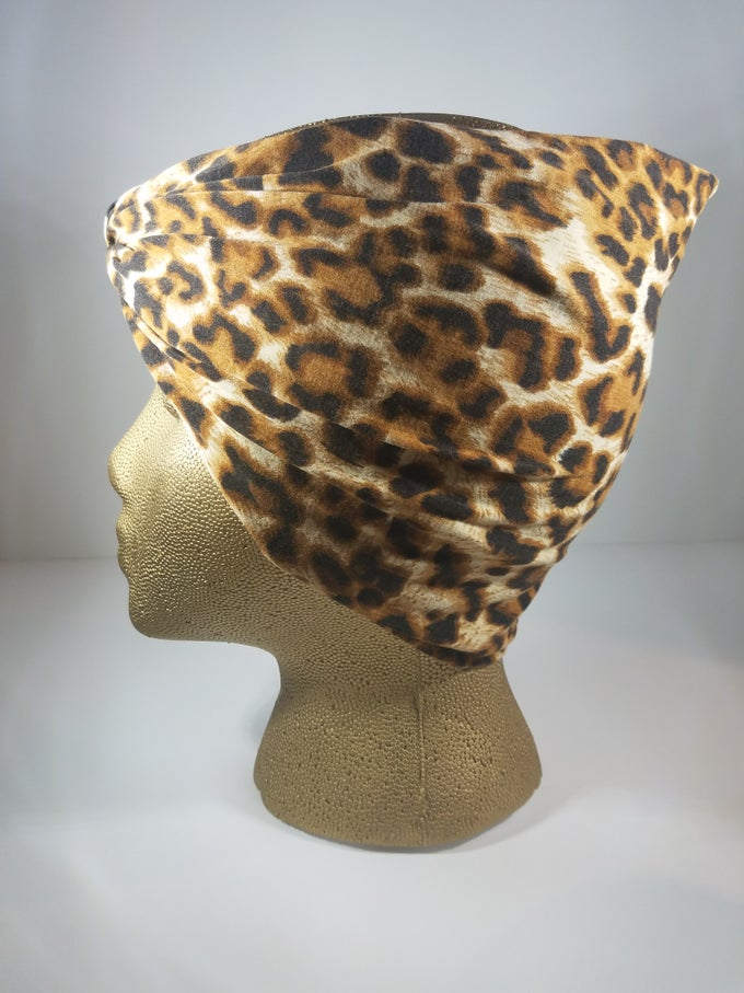 Image of Leopard Print Hair Wrap