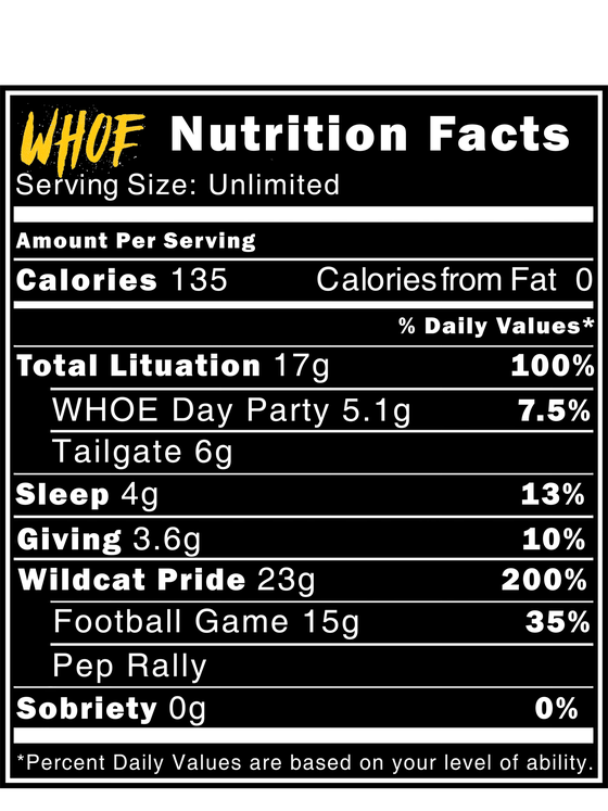 Image of WHOE® Nutrition Facts