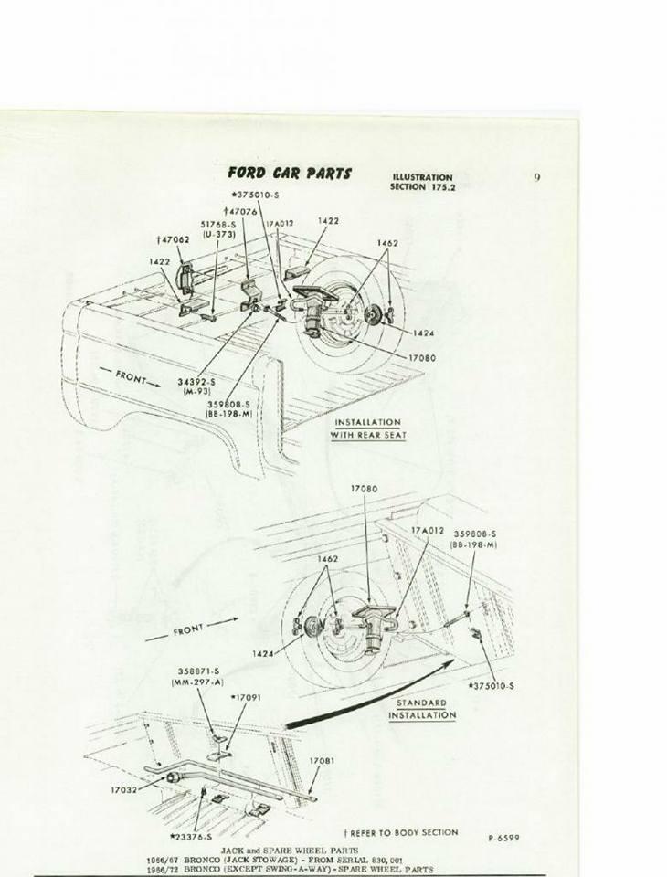 Image of 1967 Inside The Spare Wheel Jack Hook