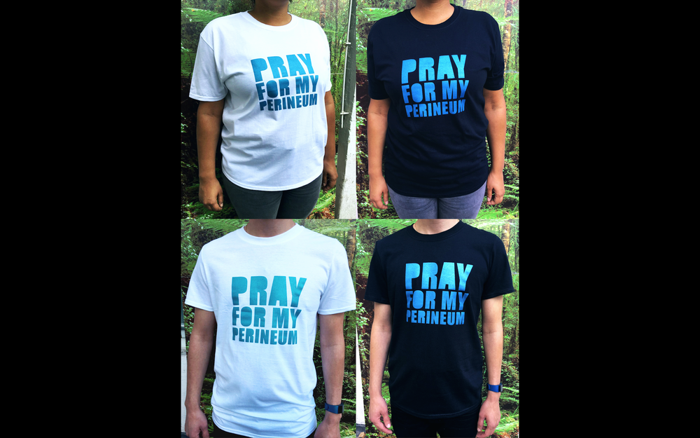 Image of T-shirt: pray for my perineum