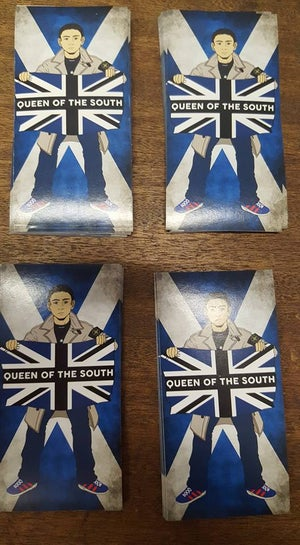Queen Of The South Brand New Stickers 25 Pack Football Ultras Stickers 10x5cm.