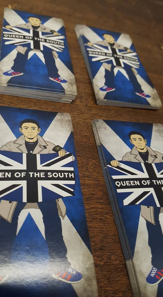 Image of Queen Of The South Brand New Stickers 25 Pack Football Ultras Stickers 10x5cm.