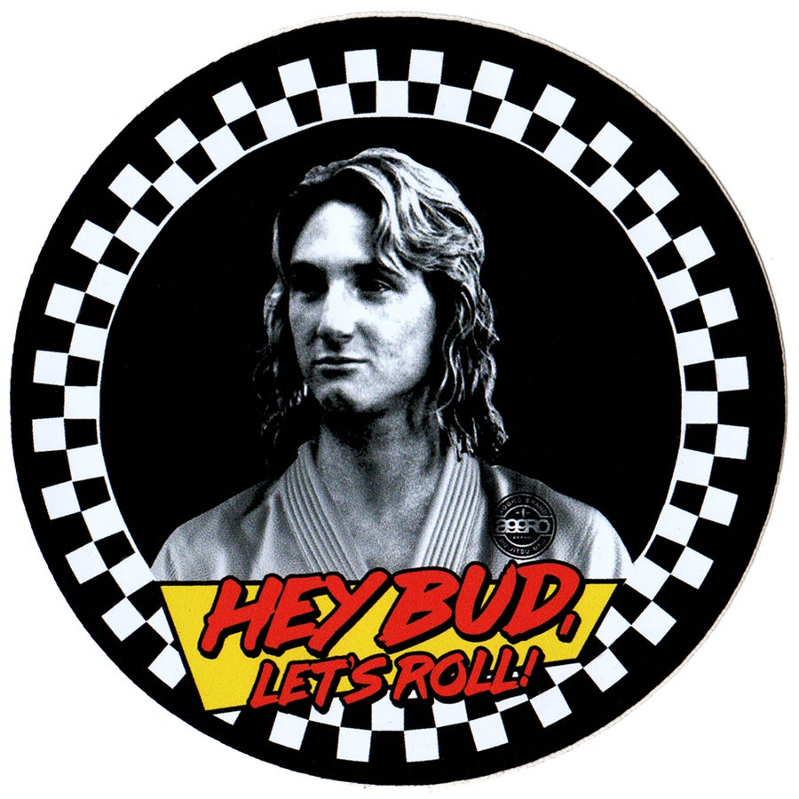 "Image of AGGRO BRAND ""Hey Bud"" Sticker"