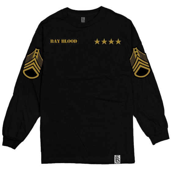 Image of First Blood Long Sleeve (black/gold)