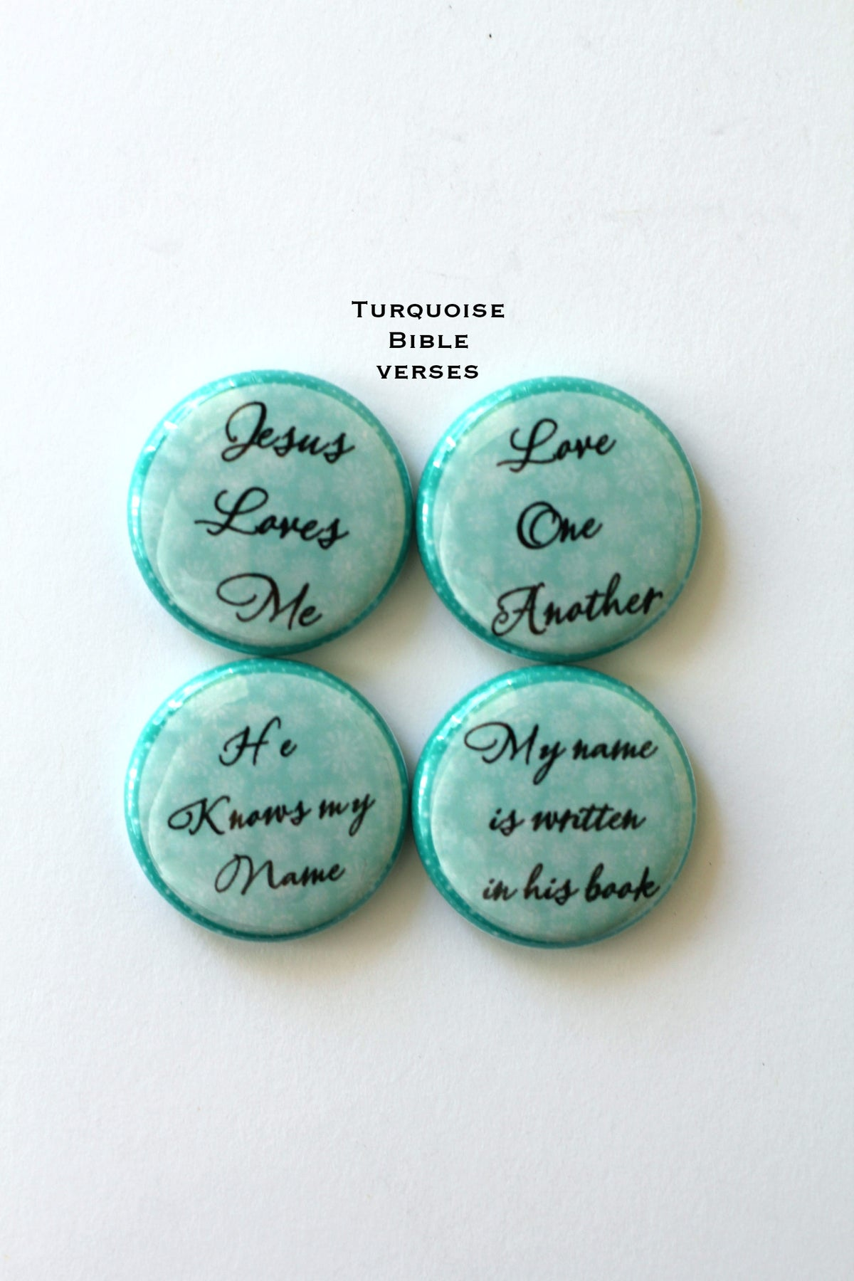Image of Jesus loves me Flair buttons