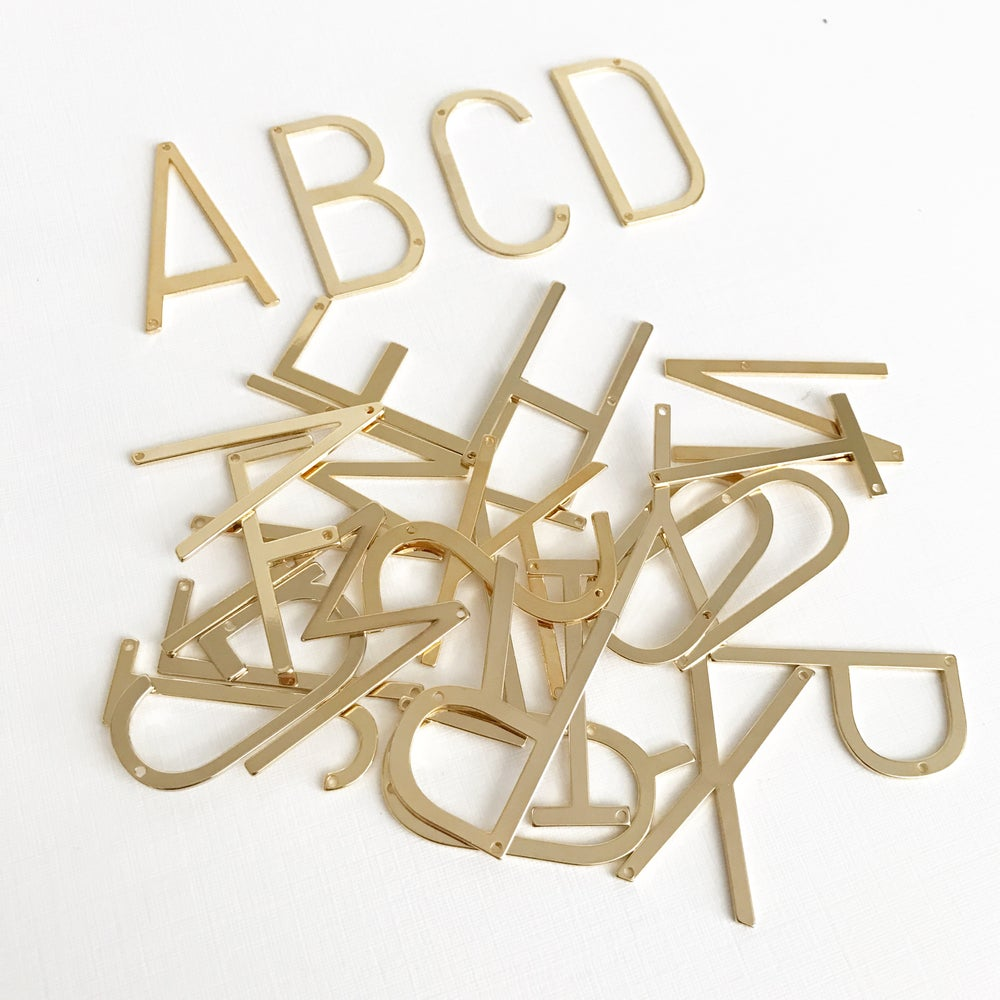 Image of Chunky large initial necklace