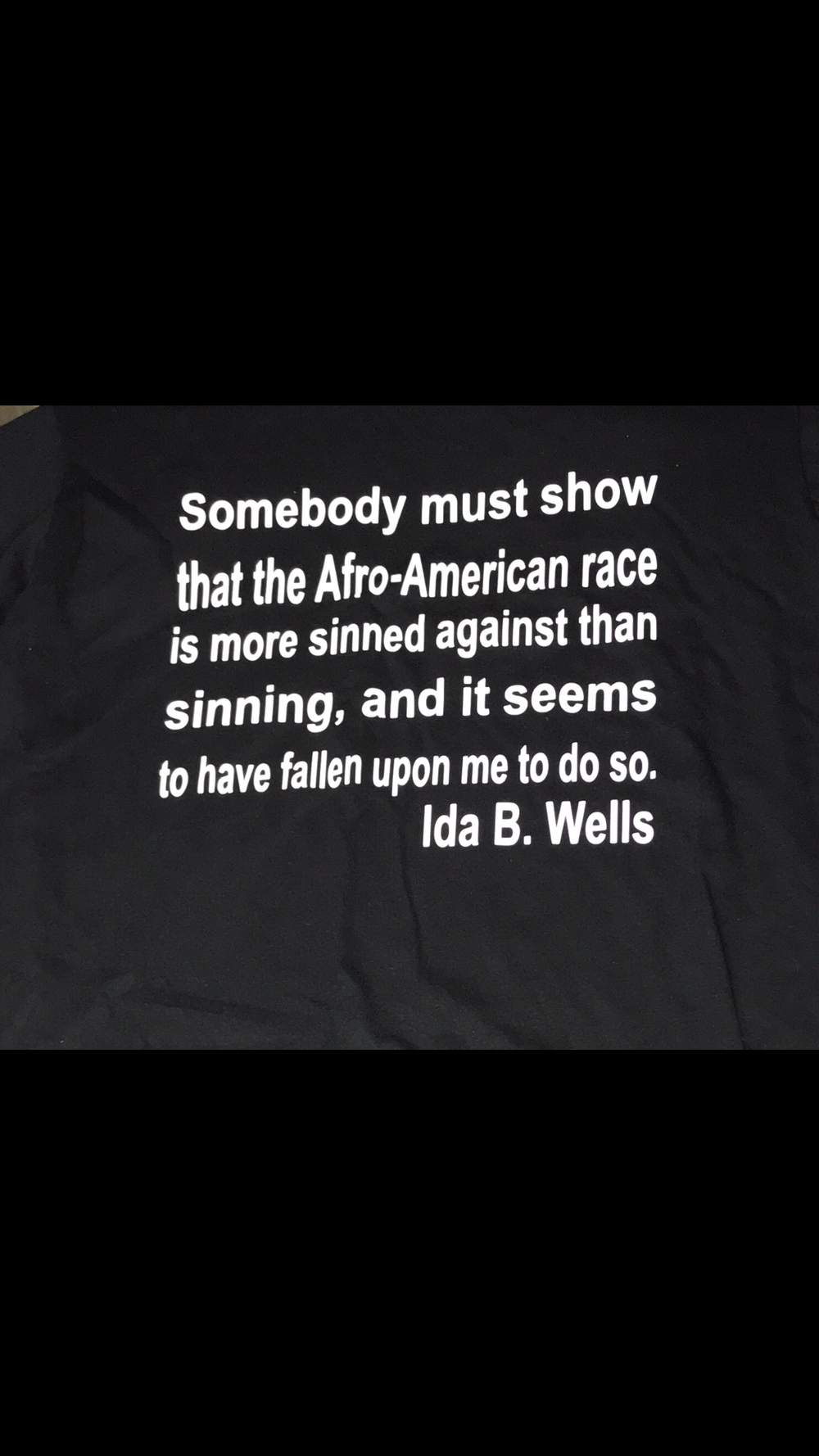 Image of WOMEN'S IDA B. WELLS QUOTE TSHIRT