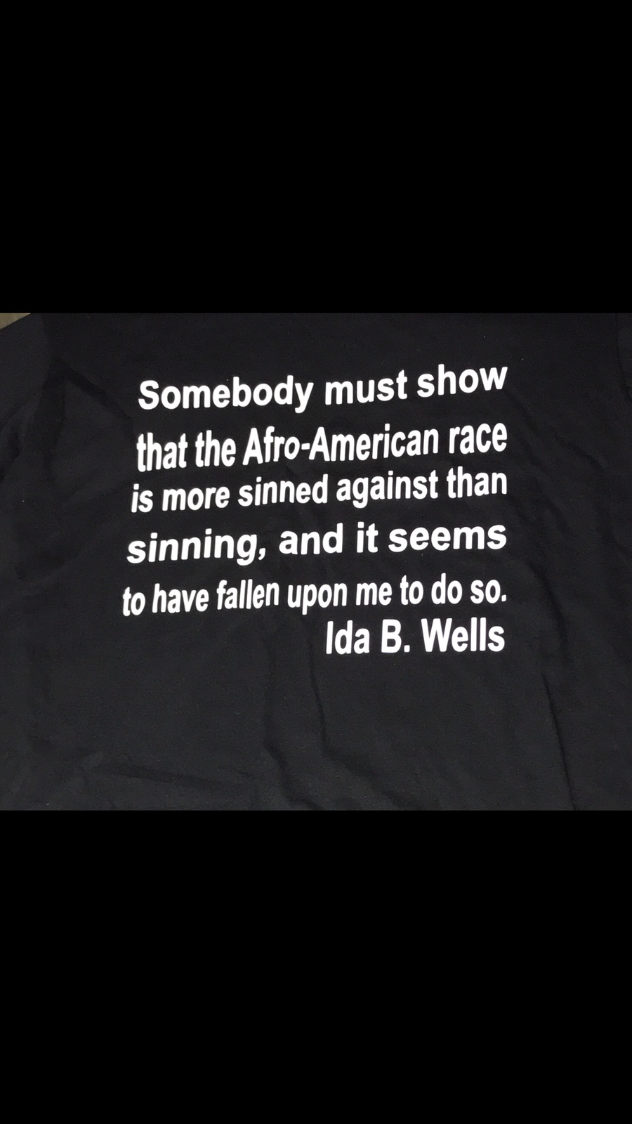 Image of Men's Ida B. Wells Quote T-Shirt