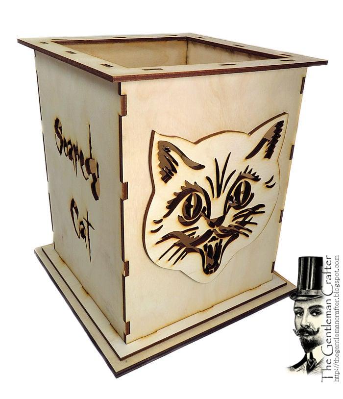 Image of Scaredy Cat Lantern Wood Kit