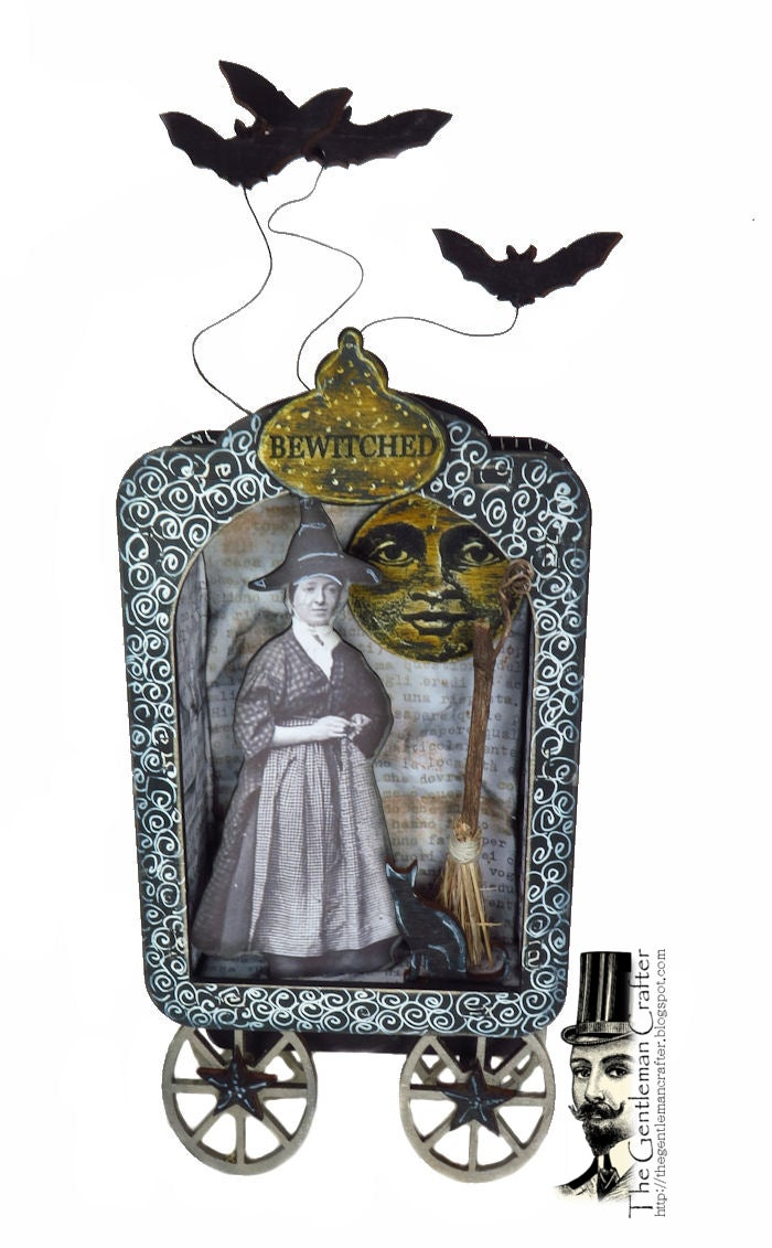 Image of Vintage Witch Wood Shrine Kit