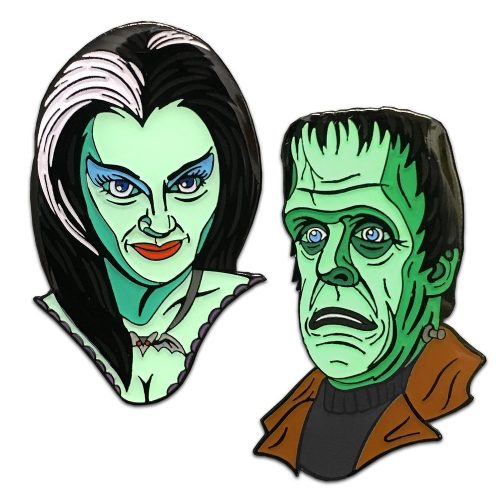Image of Two Ghouls - Lapel Pin