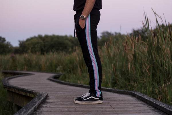 Image of Black Rainbow Pants