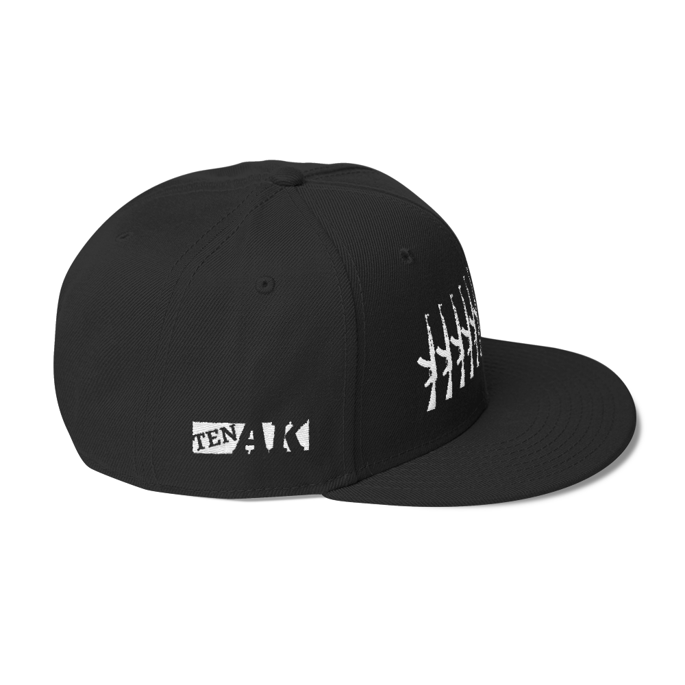 Image of Wool Snapback Black/White Stitch