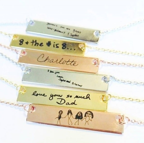 Image of Handwriting Engraved Necklace