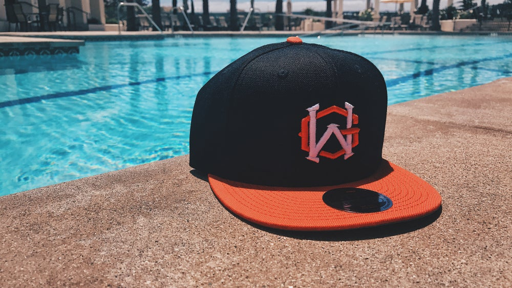 Image of GW Orange & Black Snapback