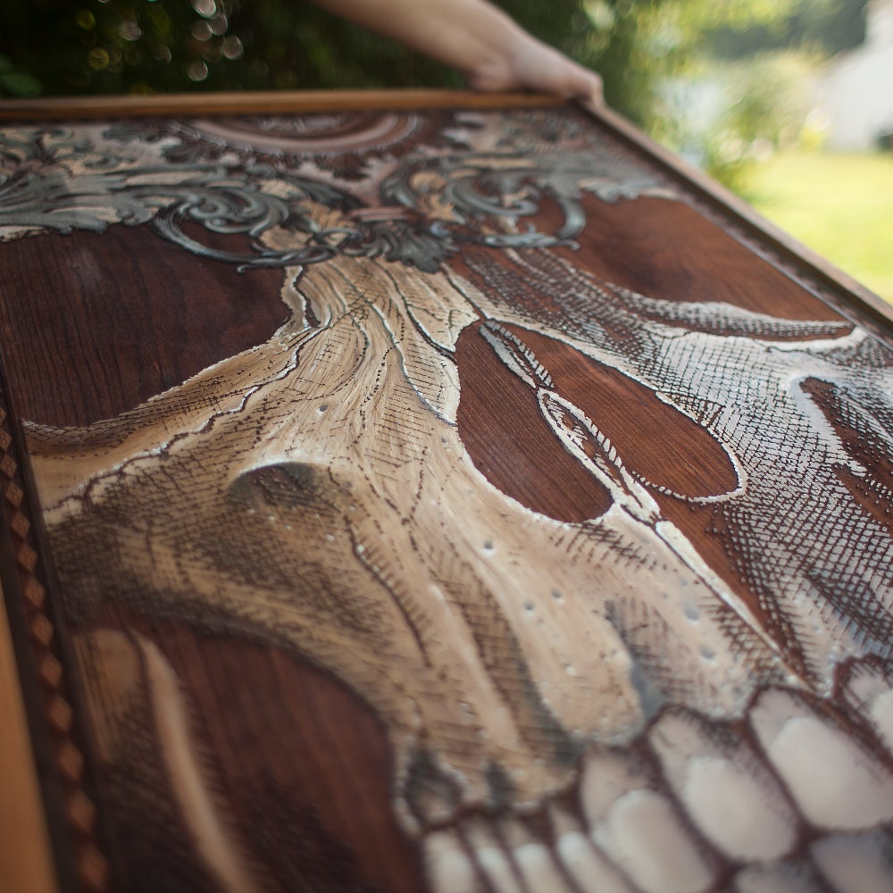 Image of Skull Victoria Engraved Oil Painting