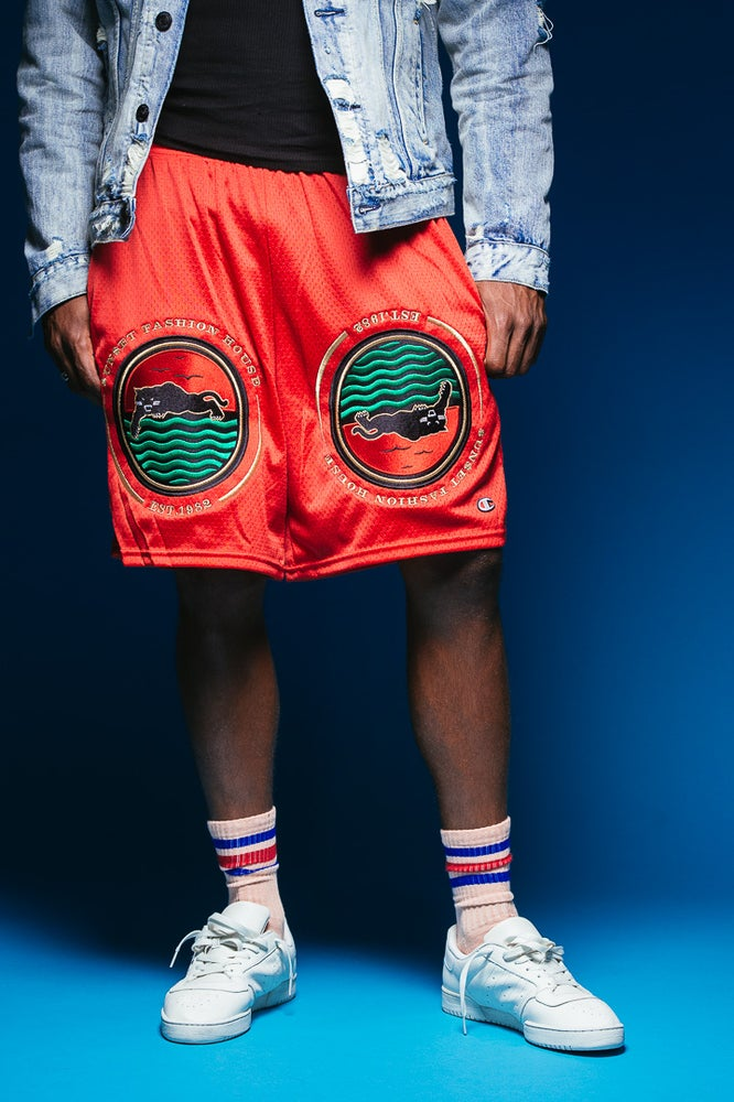 Image of SUNSET FASHION HOUSE - Shorts (Scarlet)