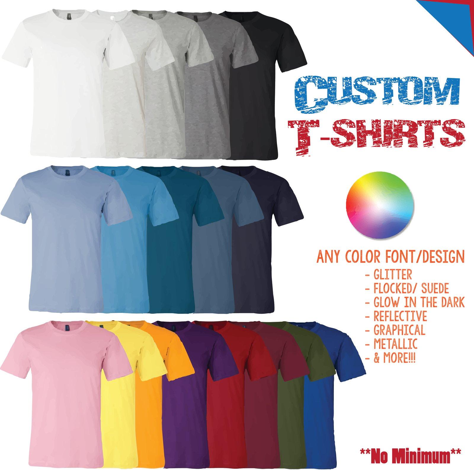 Custom T Shirts Cheap No Minimum