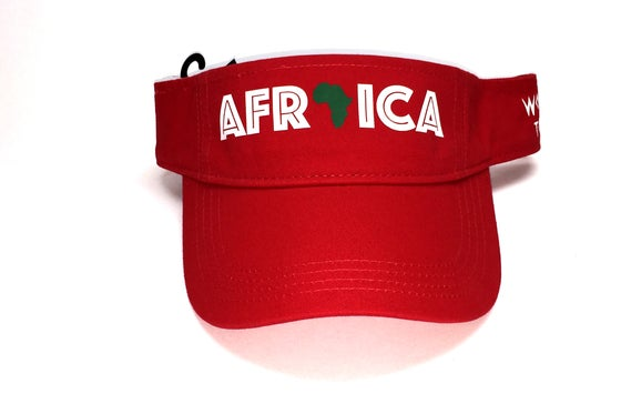"Image of World Tour ""Africa"" Visor Red"