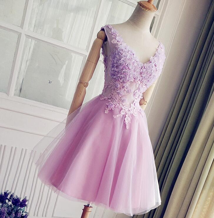 Cute Lavender Short Party Dresses Beautiful Sweet 16 Dresses