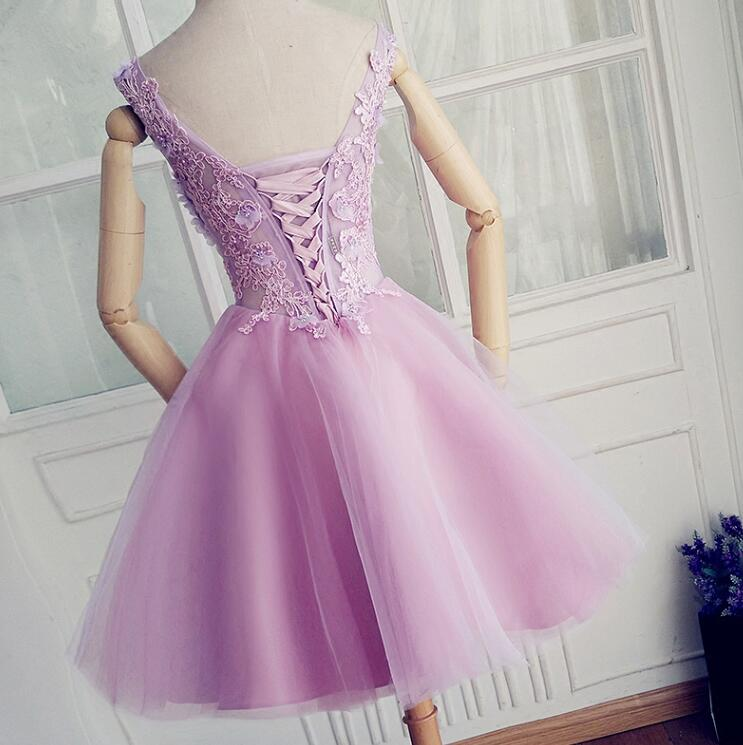 Cute Lavender Short Party Dresses, Beautiful Sweet 16 Dresses, Formal Dresses