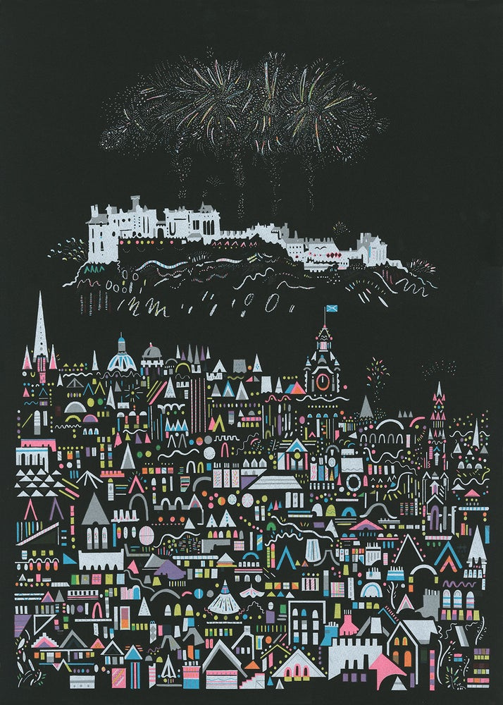 Image of Fireworks Screenprint